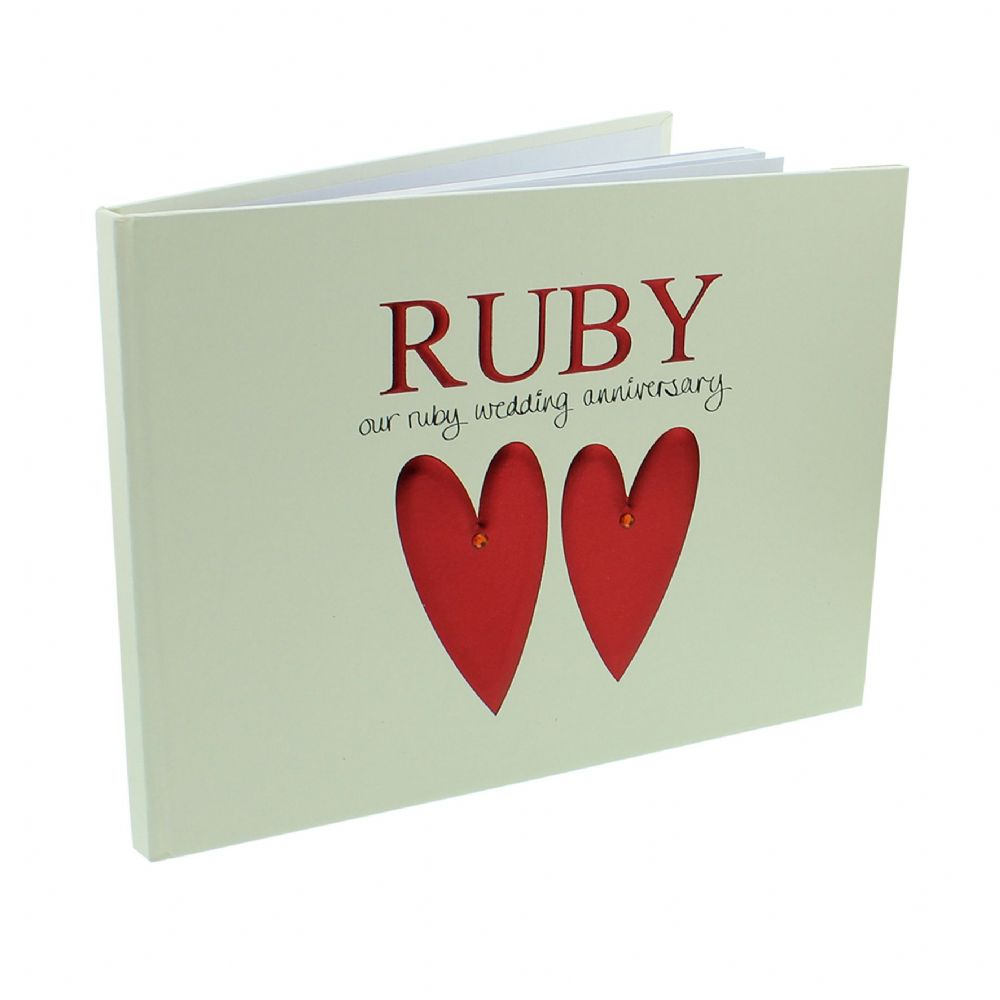 40th Ruby Wedding Special Anniversary Guest Book